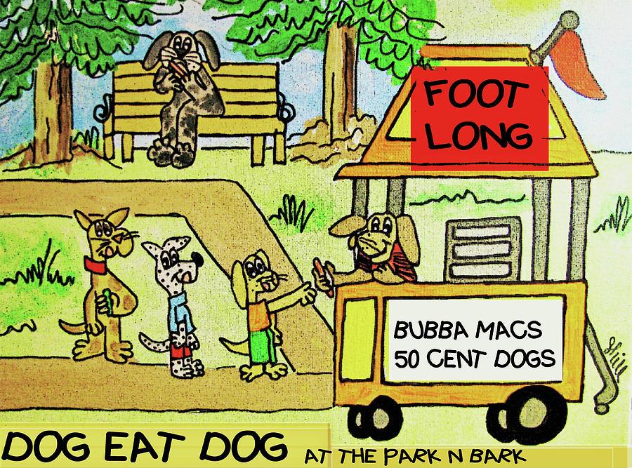Dog Eat Dog Drawing