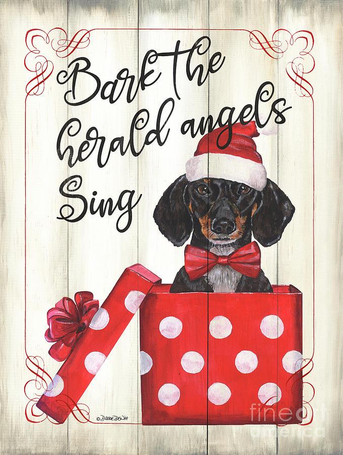 Dog Painting - Dog Holiday 1 by Debbie DeWitt