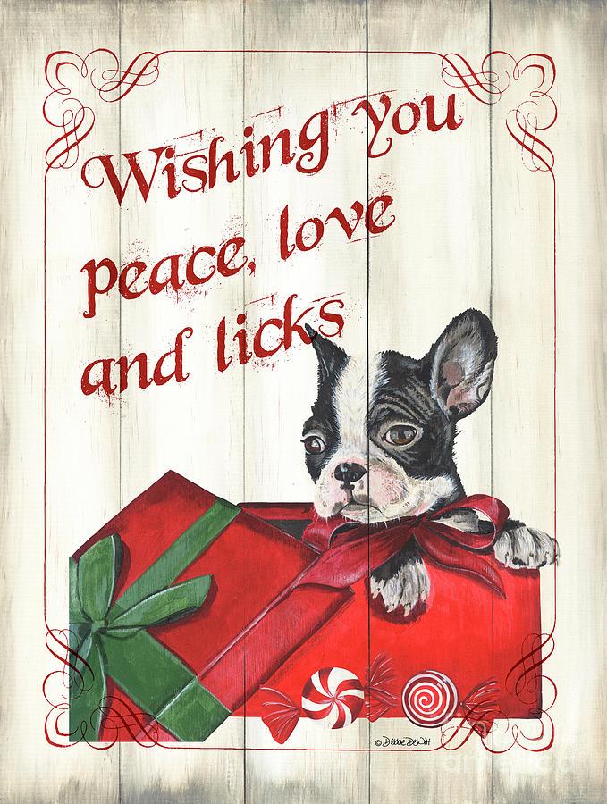 Dog Painting - Dog Holiday 4 by Debbie DeWitt