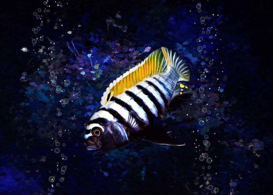Dogtooth Cichlid Painting Digital Art