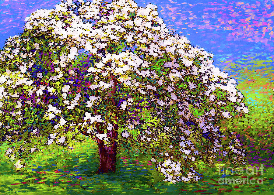 Landscape Painting - Dogwood Dreams by Jane Small