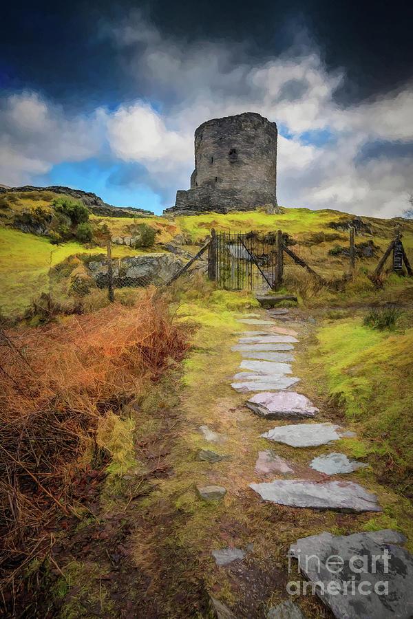 Dolbadarn Castle Llanberis Wales by Adrian Evans
