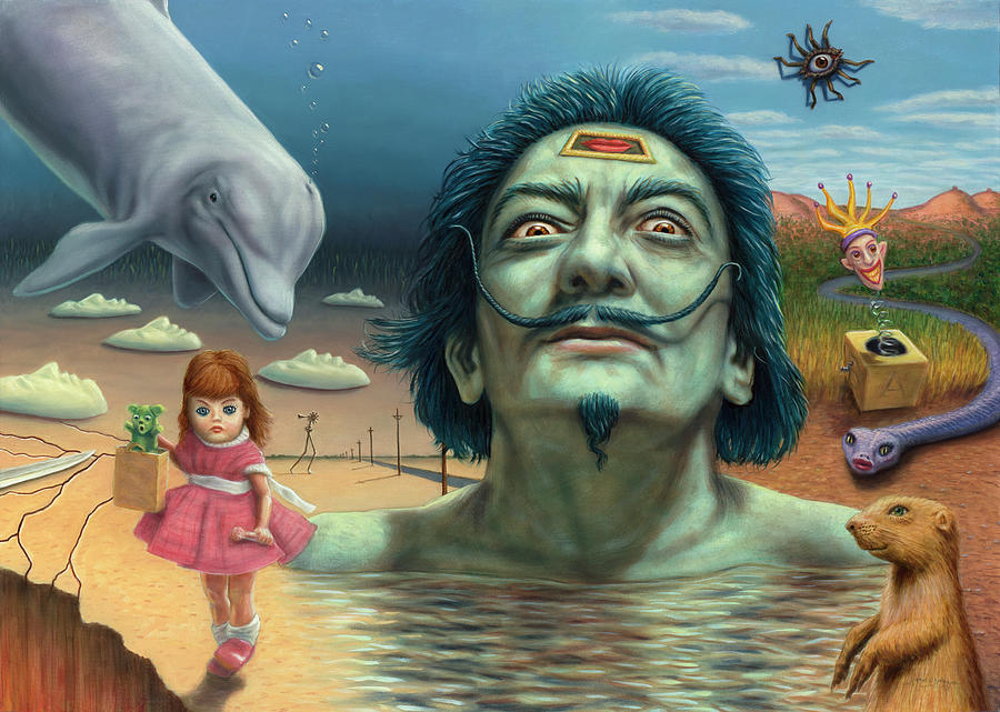 Salvador Painting - Dolly In Dali-land by James W Johnson