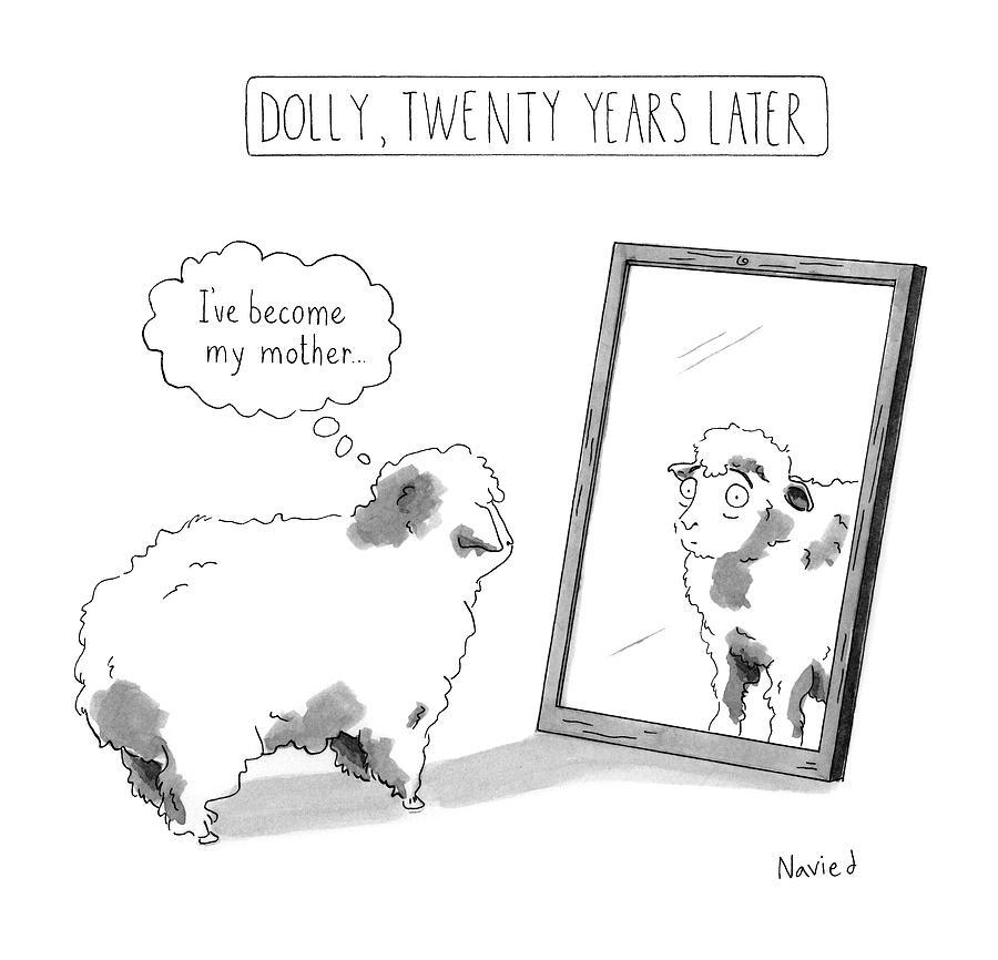 Dolly, Twenty Years Later Drawing by Navied Mahdavian