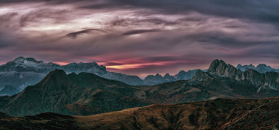 Italy Photograph - Dolomites Panorama by Framing Places