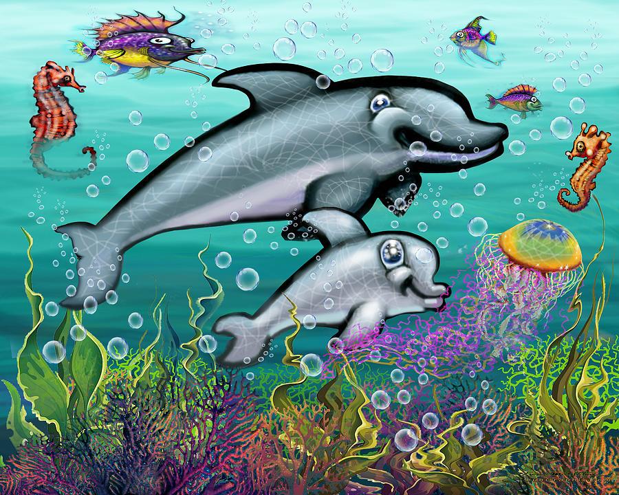 Dolphins Playground Digital Art