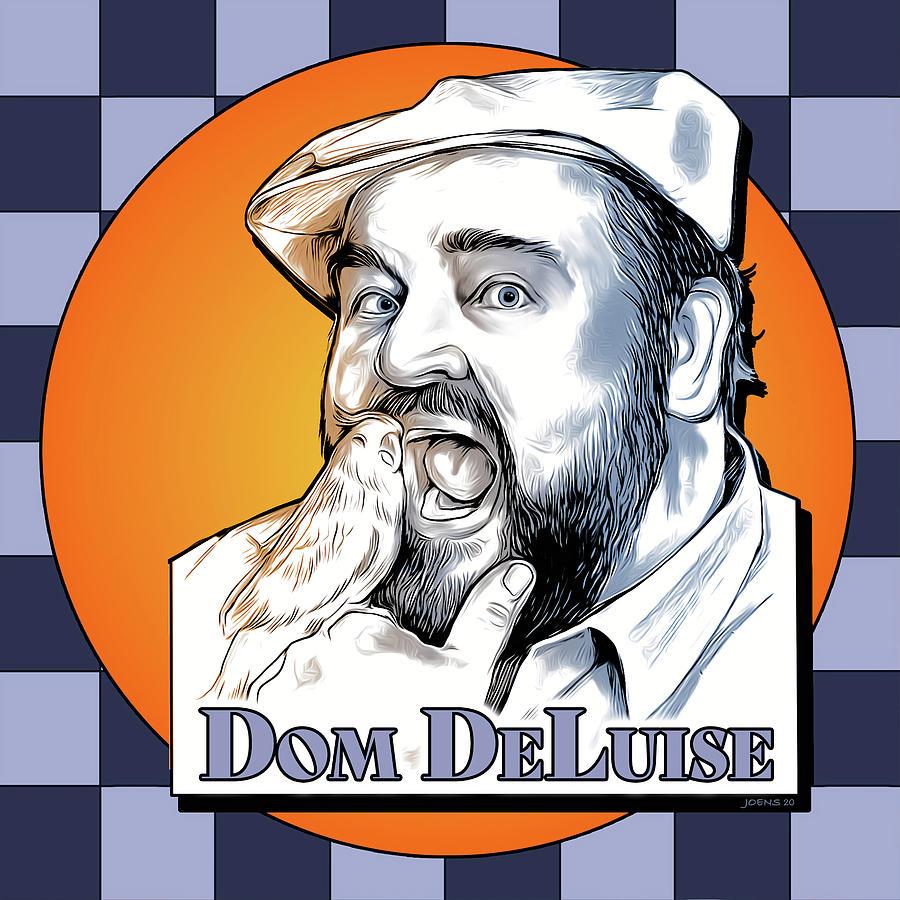 Dom Deluise Digital Art - Dom and the Bird by Greg Joens