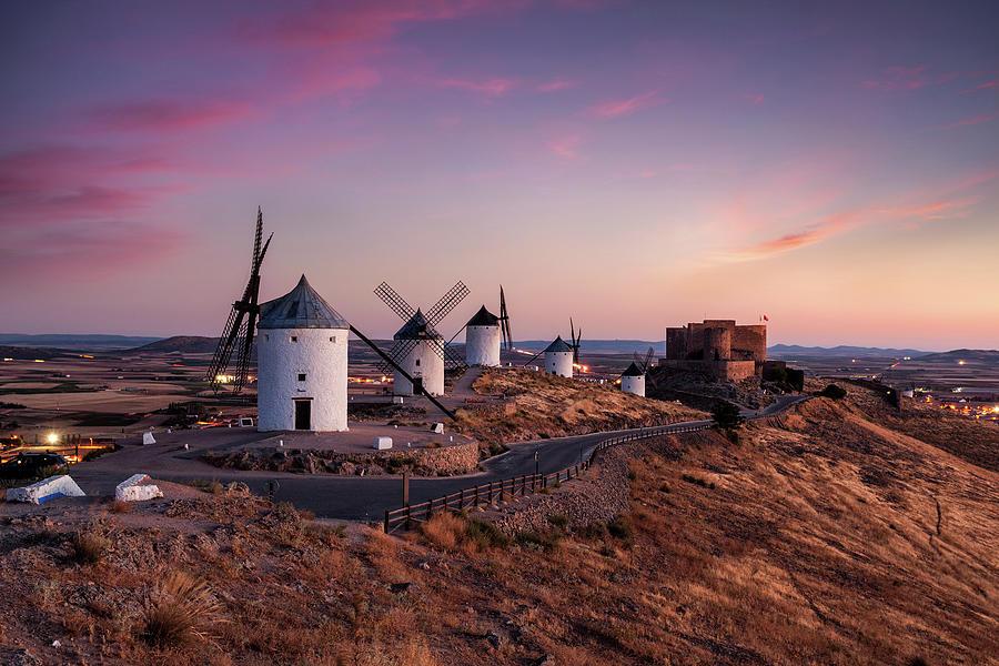 Don Quixote Windmills Photograph