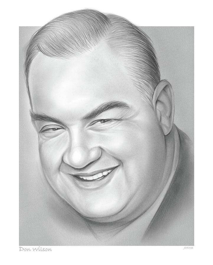Don Wilson Drawing - Don Wilson - pencil by Greg Joens