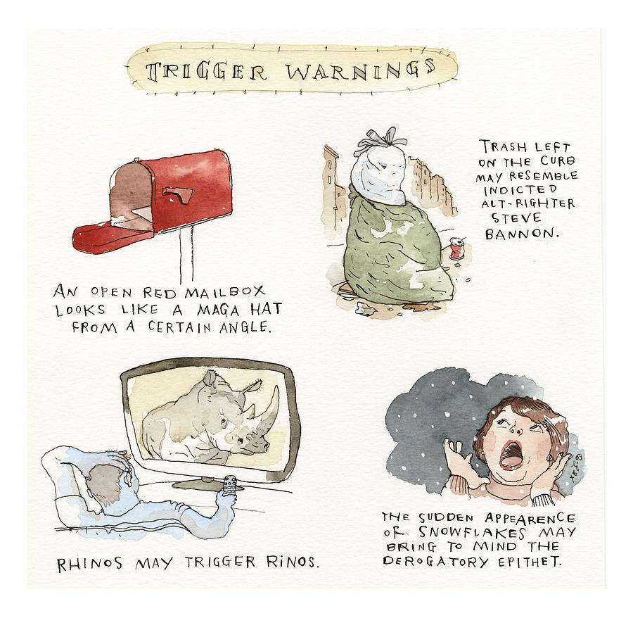Dont Say We Didnt Warn You Drawing by Barry Blitt