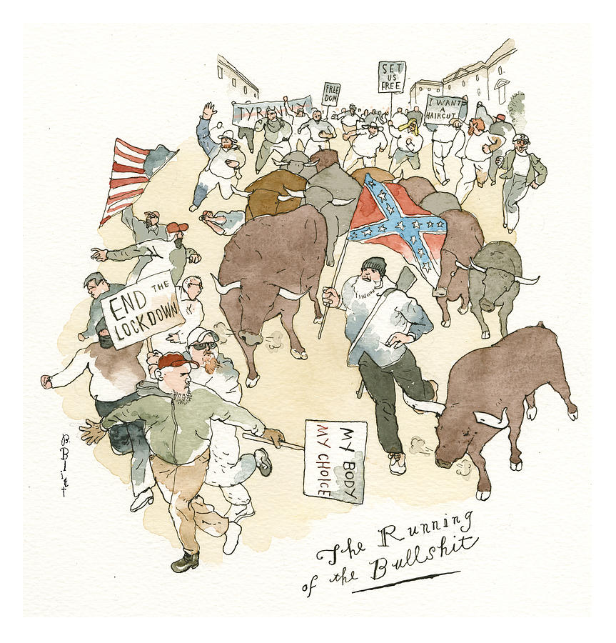 Dont Tread on Me Painting by Barry Blitt