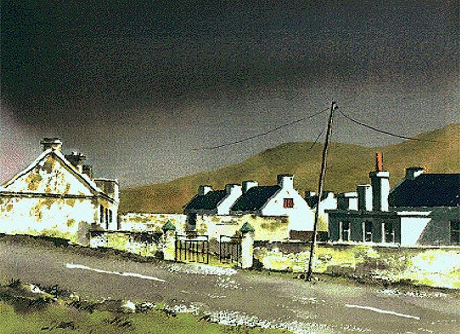 Dooagh Village, Achill, Mayo by Val Byrne