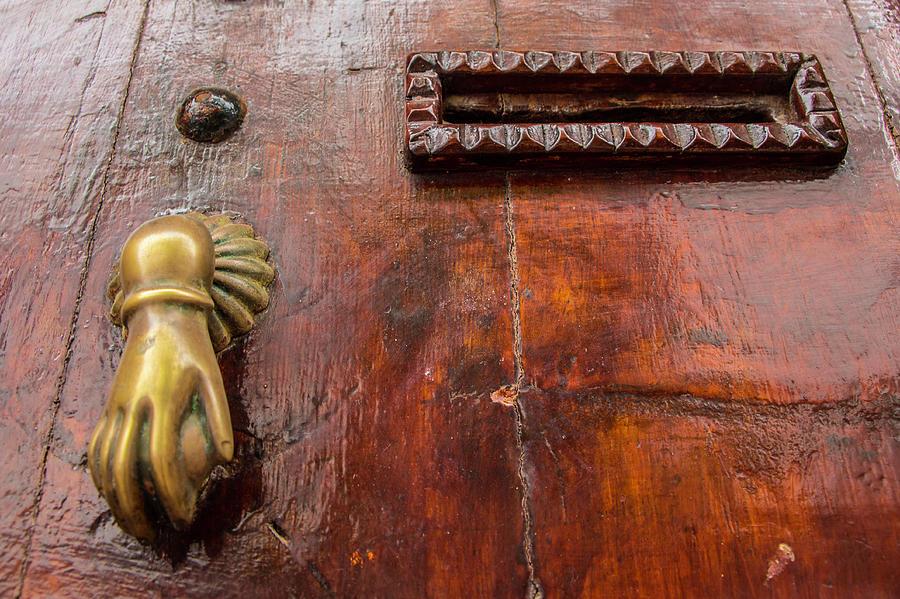 Doors Photograph - Door Knocker, Morocco by Venetia Featherstone-Witty