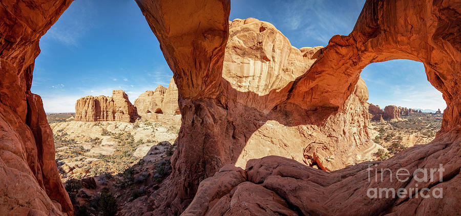 Double Arch Arches National Park Utah Panorama Photograph