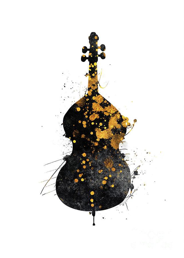 Double Bass Music Art #doublebass Digital Art