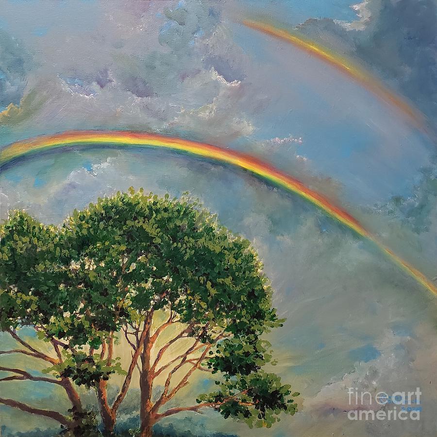 Double Rainbow Painting