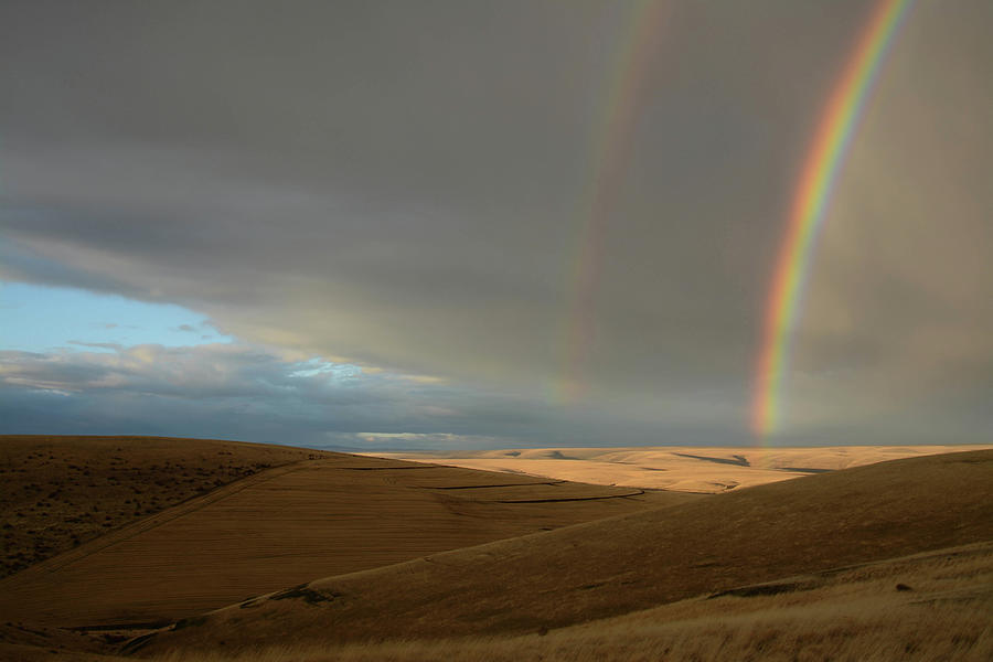 Double Rainbows Over The Range Photograph