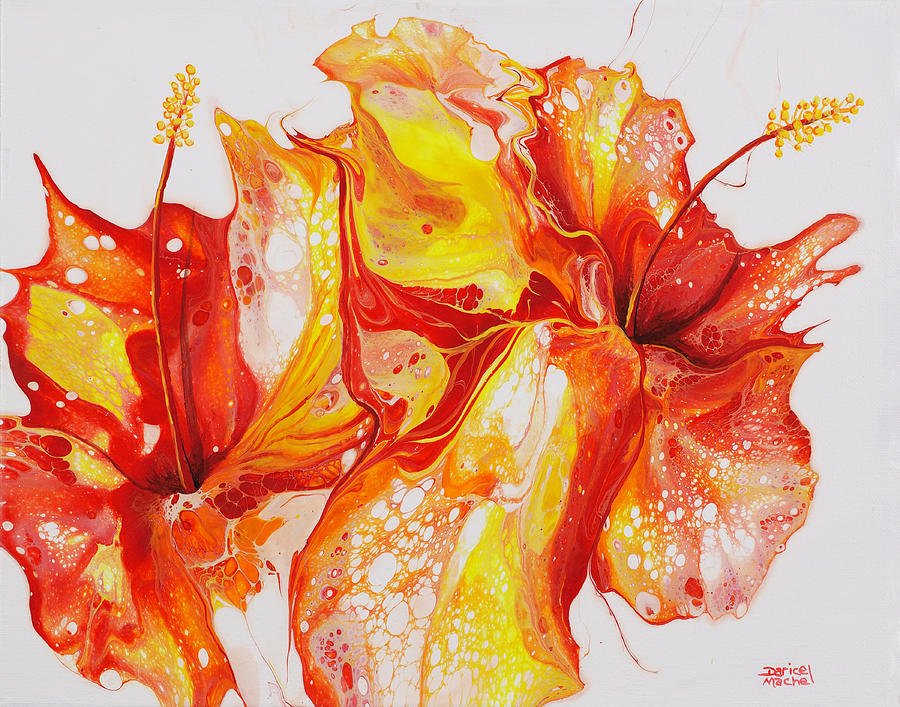 Double Red and Yellow Hibiscus by Darice Machel McGuire