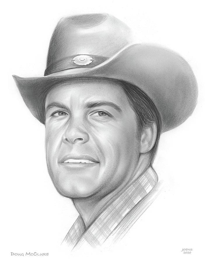 Doug Mcclure Drawing - Doug McClure - Pencil by Greg Joens