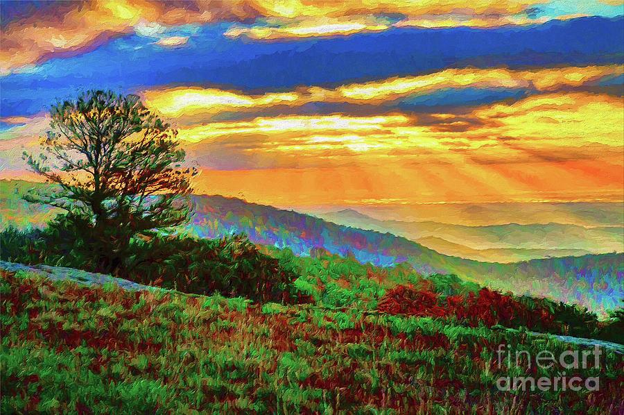 Doughton Autumn Sunrise ap by Dan Carmichael