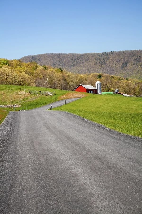 Down A Country Road Photograph