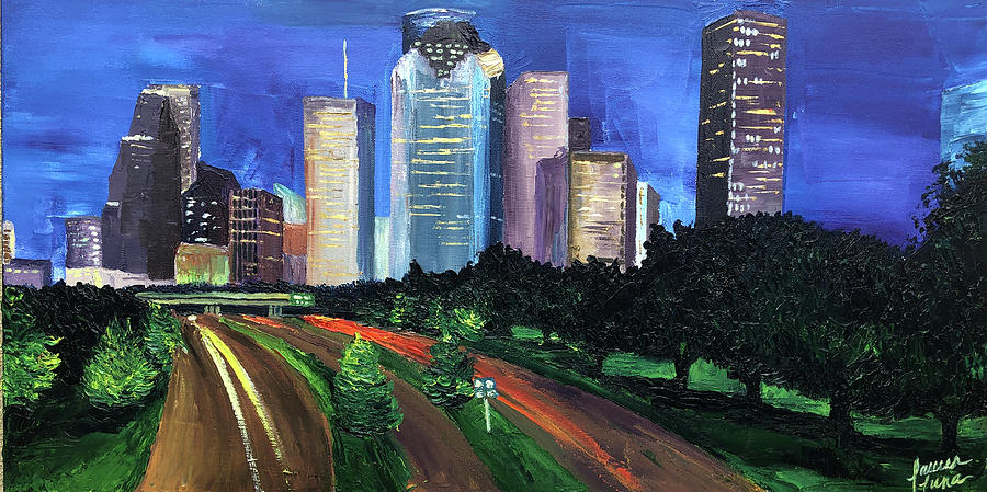 Houston Painting - Down Allen Parkway by Lauren Luna