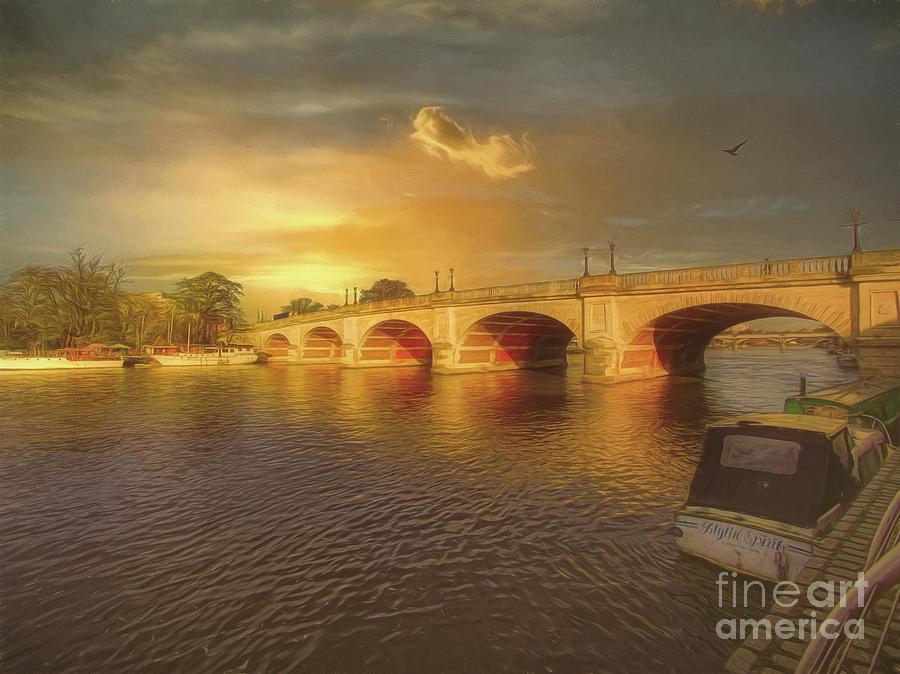 Kingston Bridge Photograph - Down By The Bridge by Leigh Kemp