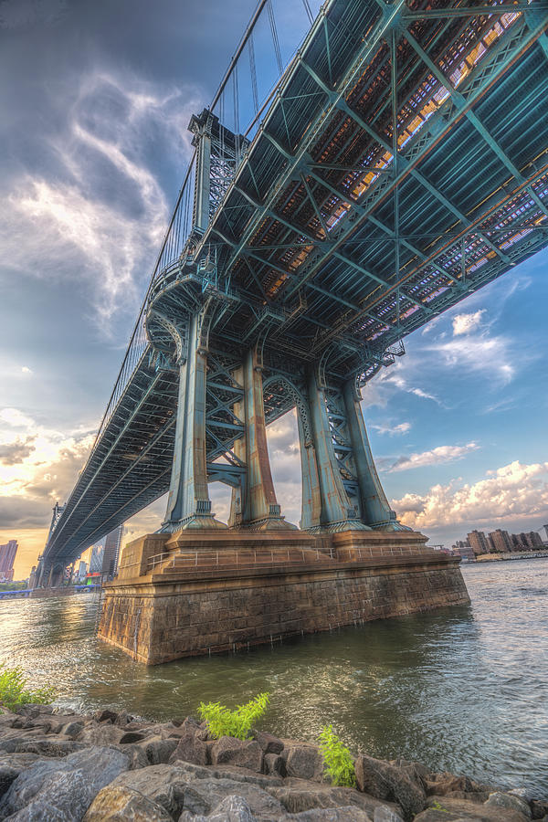 Nyc Photograph - Down Under the Manhattan Bridge by Zev Steinhardt