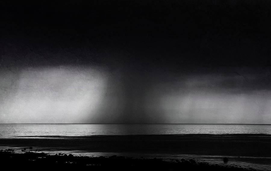 Downpour Out At Sea Photograph