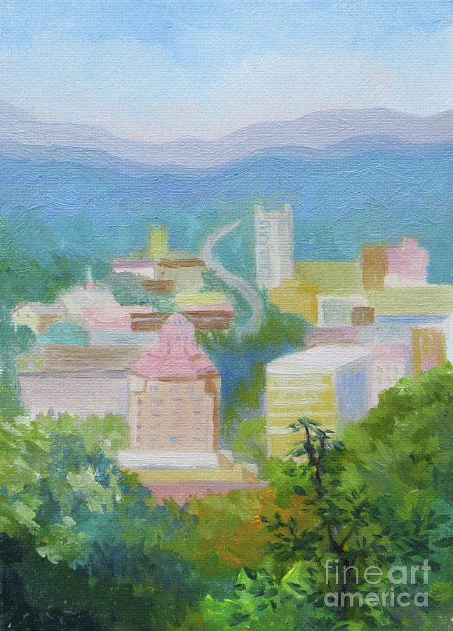 Downtown Asheville by Anne Marie Brown