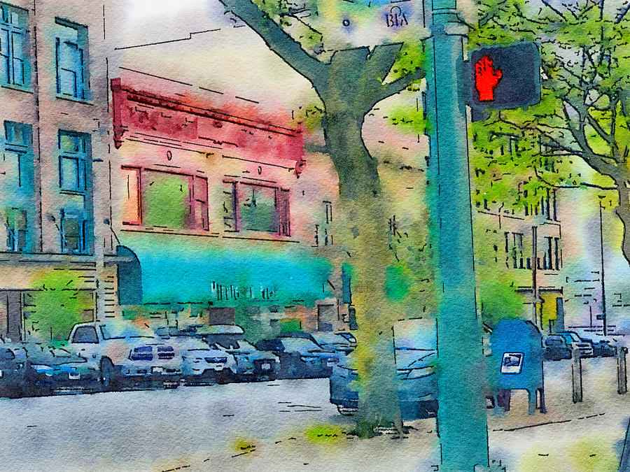 downtown painting by bonnie bruno fine art america