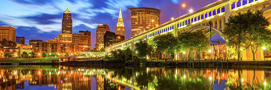 Downtown Cleveland Ohio Skyline Panorama Photograph