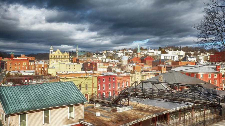 Downtown Staunton Virginia and the Sears Hill Bridge by Susan Rissi Tregoning