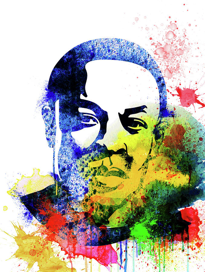 Dr. Dre Mixed Media - Dr. Dre Watercolor by Naxart Studio