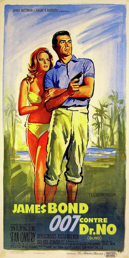 dr. No Movie Poster 1962 Mixed Media