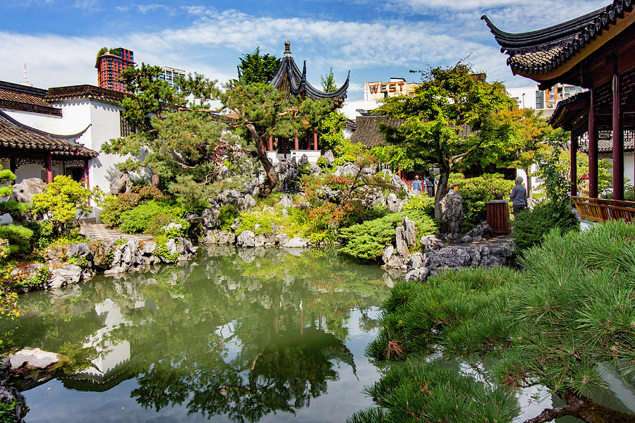 Chinese Garden Photograph - Dr. Sun Yat-Sen Classical Chinese Garden, Vancouver, Canada by Venetia Featherstone-Witty