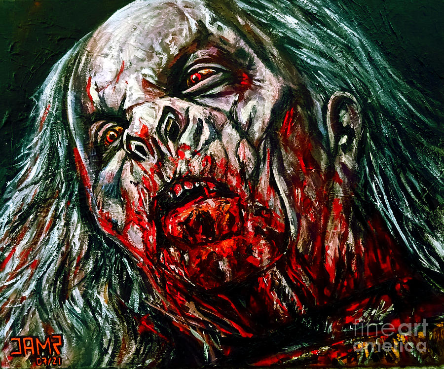 Bram Stoker Painting - Dracula End by Jose Mendez