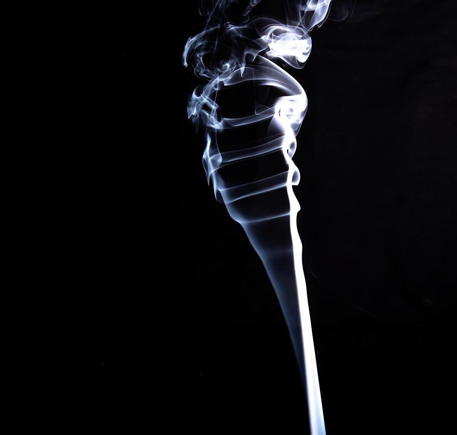 Smoke Photograph - Dragon Head by Peyton Vaughn