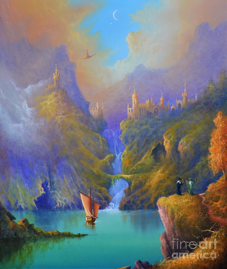 Dragon Painting - Dragon Lake by Ray Gilronan
