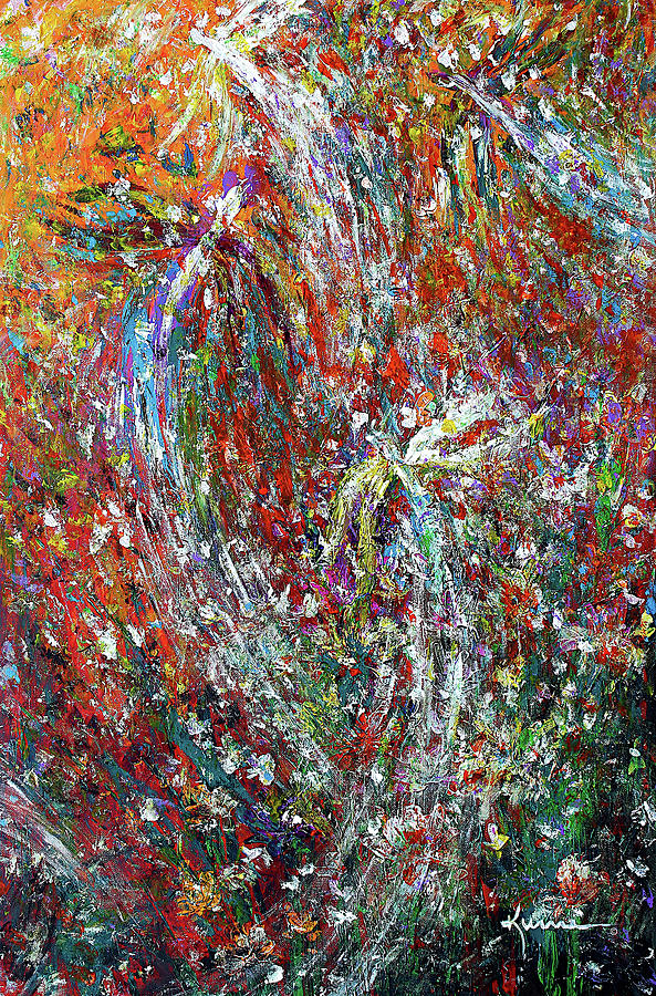 Blue Painting - Dragonflies Having Fun by Kume Bryant