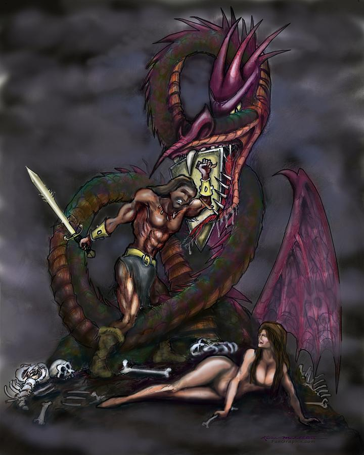 Dragonslayer Painting