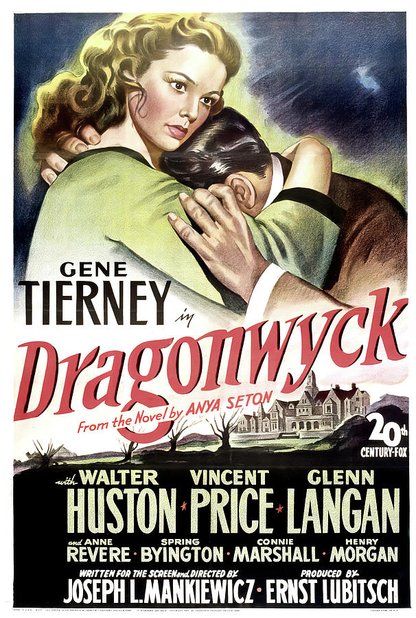 dragonwyck Movie Poster, With Gene Tierney And Walter Huston, 1946 Mixed Media