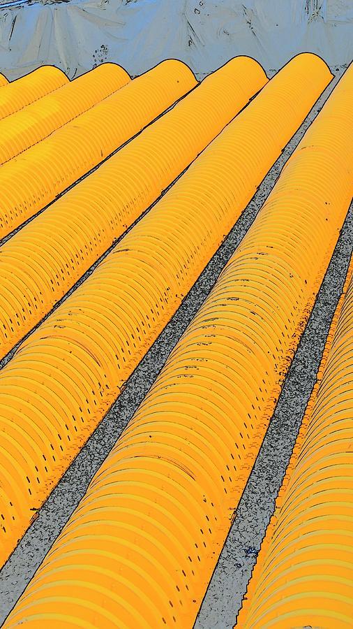 Drain Field Tubes Photograph