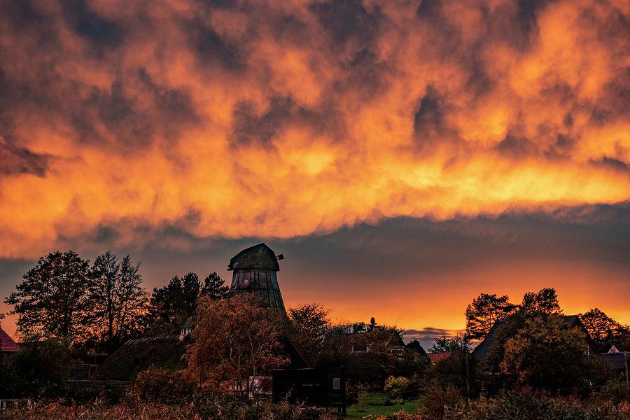 Dramatic Evening Sky After Sunset Photograph