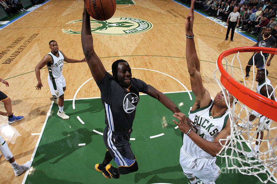 Draymond Green and Giannis Antetokounmpo Photograph by Gary Dineen