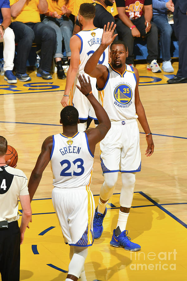 Draymond Green and Kevin Durant Photograph by Jesse D. Garrabrant