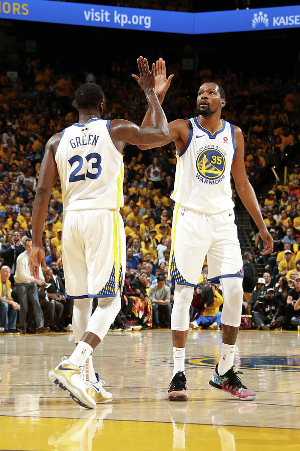 Draymond Green and Kevin Durant Photograph by Nathaniel S. Butler