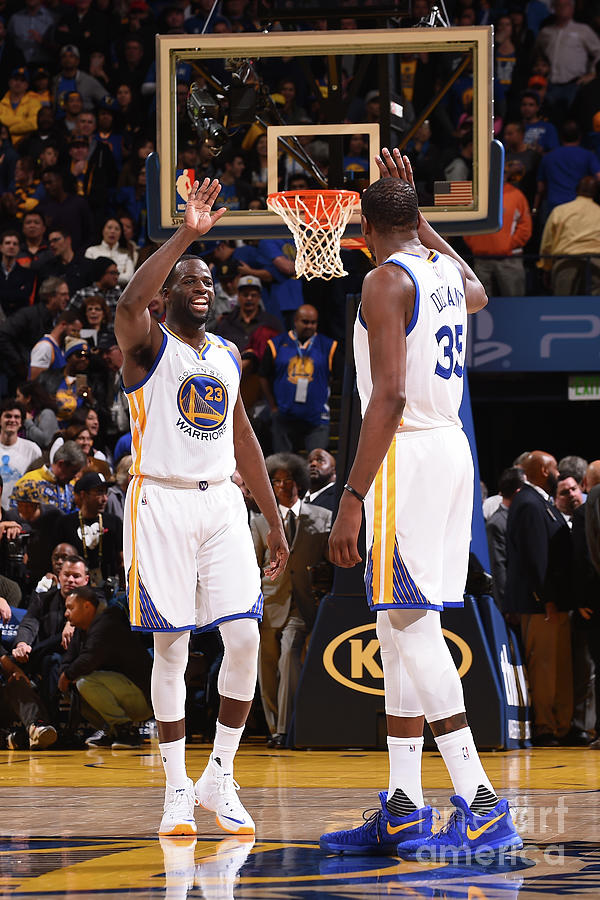 Draymond Green and Kevin Durant Photograph by Noah Graham