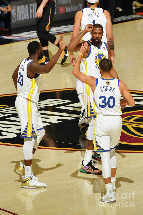 Draymond Green, Stephen Curry, and Kevin Durant Photograph by Jesse D. Garrabrant