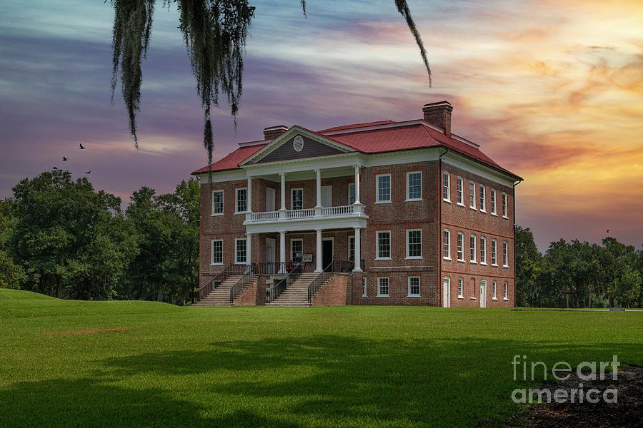 Drayton Hall Sunset In Charleston South Carolina Photograph